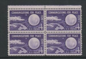 USA - 1960, 4c Violet, Communication for Peace Block of 4 - M/M - SG 1172