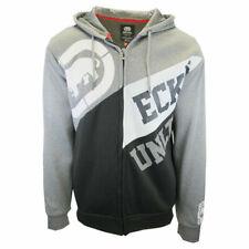 Ecko Unltd Men's Grey White Black Two Tone Full Zip Hoodie (S51)