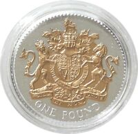2008 Royal Mint British Royal Arms £1 One Pound Silver Gold Proof Coin