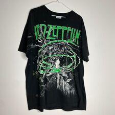 Vintage 90's Winterland Led Zeppelin All Over Print Band Tour Shirt XL Black