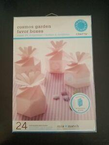NIB Martha Stewart Crafts Cosmos Garden Pink Favor Boxes 24 count