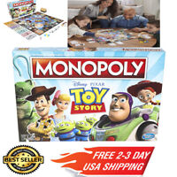 Monopoly Game Disney Pixar Toy Story Edition - Free Shipping