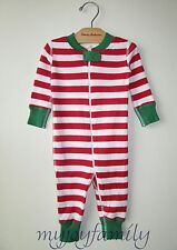 HANNA ANDERSSON Baby Organic Zip Sleeper Red White Stripe 70 9-12 mos NWT