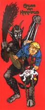 Paisley Skates Skateboard Sticker - Gruzz Vom Krampus X Trump Art by Sean Cliver