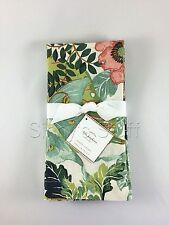 """Set/4 Pottery Barn Lyla Napkins Garden Butterfly 20"""" Sq Dinner Napkin Floral"""