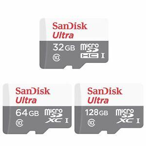 SanDisk 32GB 64GB 128GB Ultra 100MB/s Class 10 Micro SD SDHC SDXC Speicherkarte