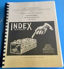 FIRST INTERNATIONAL FRUIT CRATE LABELS PRICE GUIDE 1994 Illustrated Book