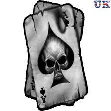 Ace of Spades Skull Sticker, Decal Skeleton Car Motorbike Poker Helmet Cards