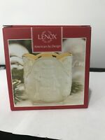 "LENOX Merry Lights Snowman Votive tea light Candle Holder 3.5"" NIB"