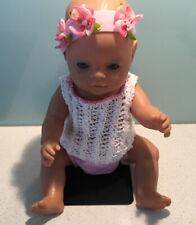 "Baby Born Vintage Zapf 2006 17"" D-96472- Blue Eyes -Good Preloved Condition"