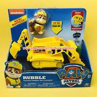 PAW Patrol Dog Rubble Transforming Bulldozer Dredger Nickelodeon Model Car Toys