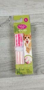 Kitty Cat Nail Caps 40 PINK Glitter LARGE 13 lb+ Whisker City NIB Anti scratch