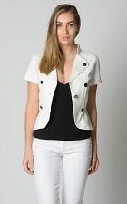 Crossroads Ladies Short Sleeve Military Jacket size 8 10 12 14 16 18 White