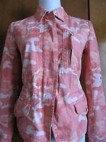 Gap women's orange white cotton blazer jacket size small NWT