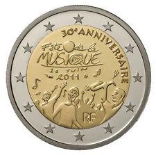 * 2 € COMMEMORATIVE - UNC - FRANCE 2011 - FÊTE DE LA MUSIQUE