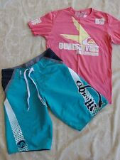 Quiksilver T Shirt Size M & Mango Board Shorts Men's Size S