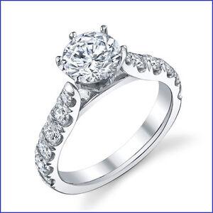 Fancy .90ct Diamond Solitaire PLATINUM Designer Engagement Semi Mount