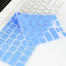 BLUE Silicone Keyboard Cover Skin for Macbook White 13