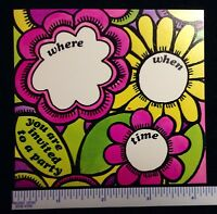 """50 VINTAGE WOODSTOCK GROOVY POP ART 1960s  /""""THANK YOU/""""   CARDS  #20a"""