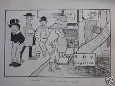 CARICATUR EARLY BUS GITTINS EX  FRANK GODFREY  INK 1911