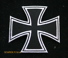 MALTESE IRON CROSS VALOR AWARD WW 2 HAT PATCH IRON ON GERMAN NAVY ARMY AIR FORCE