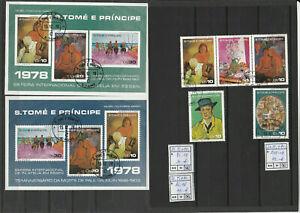 S.Tome e Principe Bl.15+16 + 515-19, Lot gestempelt (used)