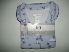 KAREN NEUBURGER 2 Pc PAJAMAS SET CAT Pajama Pants & L/S Top Womens MEDIUM NEW