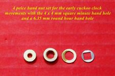 New cuckoo clock hand nuts, 4 pieces for early count wheel movements.