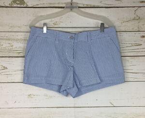 Southern Tide Caroline Seersucker Women's Boat Blue Shorts Size 10 ~ NWT