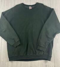 Vintage Nike 1980s Military Green Blank Single Stitch Crew Neck Sweatshirt Xxl