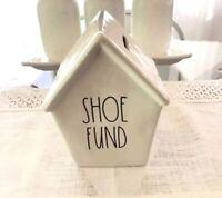 Rae Dunn SHOE FUND Ceramic House Bank Wedding Gifts