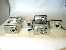 Collection of x6 Retro Digital Cameras Canon/Olympus/Fujifilm - Spares/Repairs