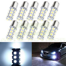 10  White 1156 BA15S 5050 18SMD Car Truck Trailer LED Light Bulbs 7503 1073 1141