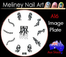 A16 Stamping Nail Art Image Plate Design Round XL Stencil metal