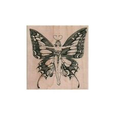 Mounted Rubber Stamp, Butterfly Lady, Fantasy, Magic, Butterfly, Fairy, Wings