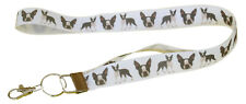 More details for boston terrier breed of dog lanyard key card id holder perfect gift