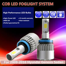 2Pcs White COB LED Bulb 16000LM LED Fog Light Fit 09-16 Hyundai Genesis Sedan