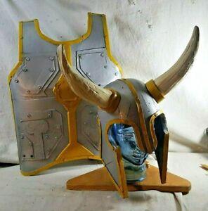 Homemade Cosplay Costume Foam Breastplate Armor and Helmet Viking Thor LARP