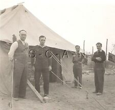 WWII Org German Army RP- DAK- Afkria Korps- Captured Soldiers- POW- Tent- 1940s