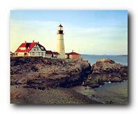Portland Maine Lighthouse Scenic Landscape Nature Decor Art Print Poster (16x20)