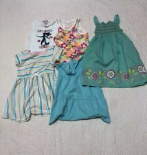 toddler girls summer short sleeve clothes dresses  lot size 4T includes 5 pieces
