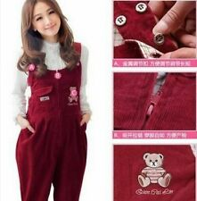Maternity Jumpsuits Bib Trousers Corduroy Pants Pregnant Women Overalls Clothing