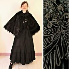 Fabulous Vintage 1890s Beaded Silk Velvet & Monkey Fur Cape / Cloak / Capelet