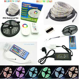 5M-20M IP65 Waterproof 5050 RGBW / RGBWW LED Strip / 40Key Remote / Touch Remote