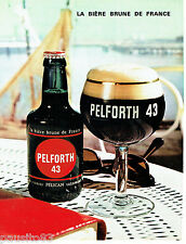 PUBLICITE ADVERTISING 016  1967  PELFORTH  bière brune 43