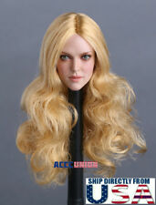 1/6 Female Head Sculpt B BLONDE Hair For PHICEN Hot Toys Figure U.S.A. SELLER
