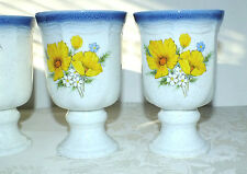 MIKASA AMY STONEWARE JAPAN FOOTED GOBLETS SET OF 4  all EXC