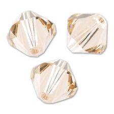 10 Perles Toupies 6mm Cristal Swarovski  LIGHT SILK  5328 XILION -Nouveauté