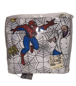 Vintage Spiderman Full Bedruffle By Springs Preformance NIP Made In The USA RA