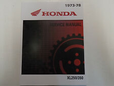 1975 1976 1977 1978 HONDA XL250 XL350 XL 250 Service Shop Repair Manual NEW